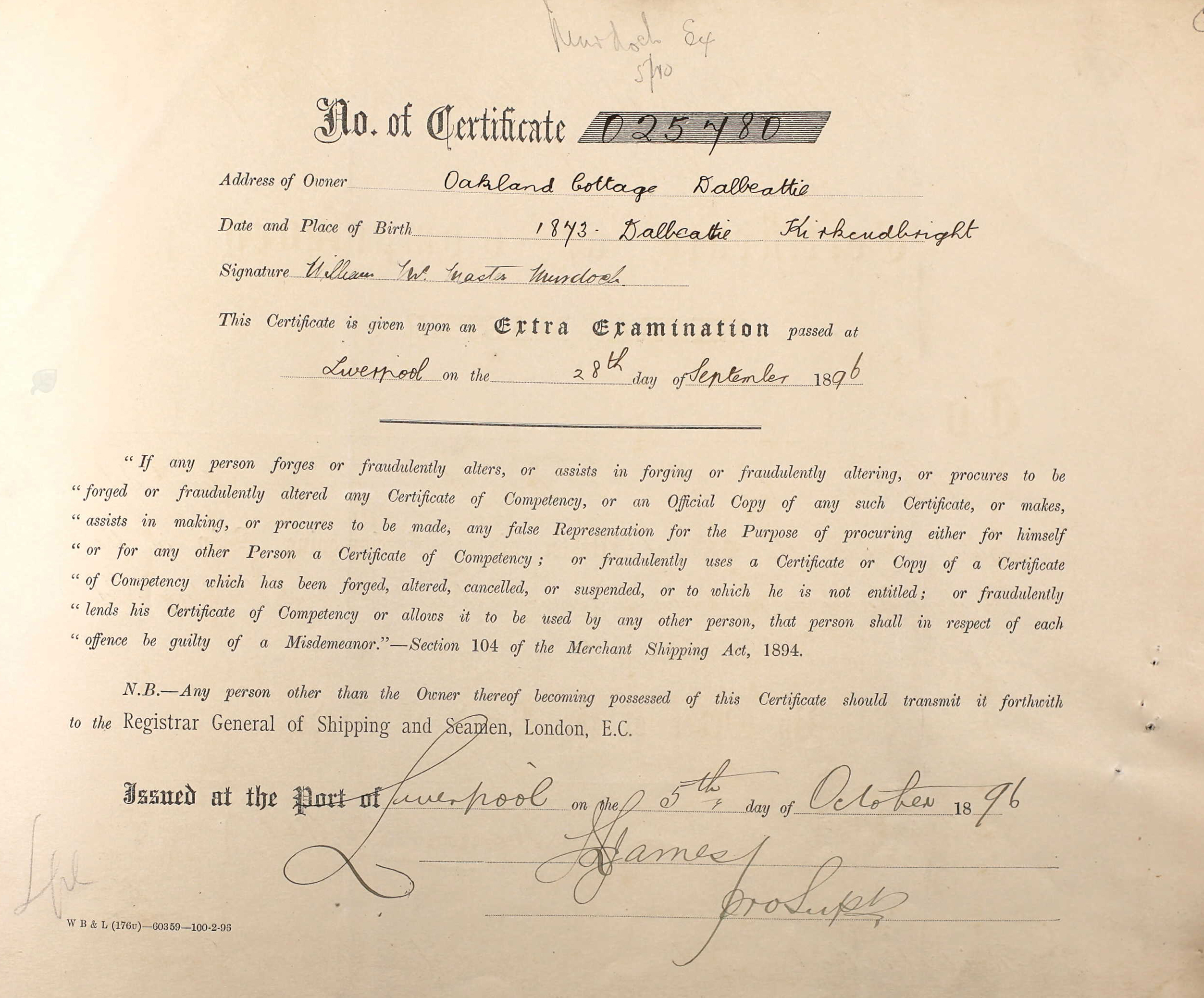 murdoch s merchant service records william murdoch the